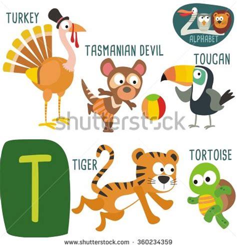 quot animals zoo alphabet with animals u zoo alphabet vectork letter stock vector