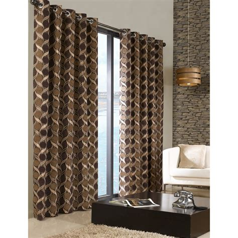 lounge curtains ready made chenille patterned fully lined eyelet ring top curtains