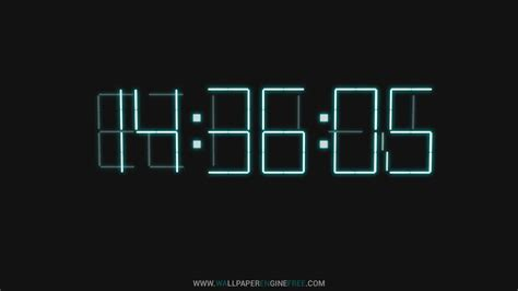 Wallpaper Engine Clock | downlaod 3d digital clock wallpaper engine free