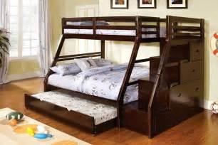 bunk beds with size bottom ellington walnut solid wood step bunk