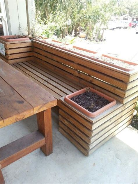 planter box bench seat 1000 ideas about planter bench on pinterest garden