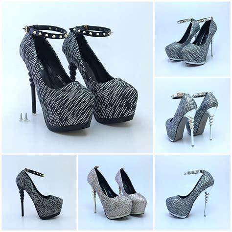 Shh1993 Material Pu Heel 14cm Size 35 36 37 389 jual shh1993 silver high heels elegan 14cm grosirimpor