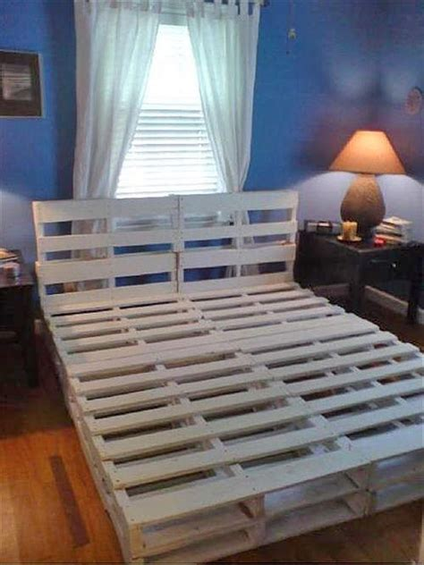 how to build a pallet bed 16 gorgeous diy bed frames the budget decorator