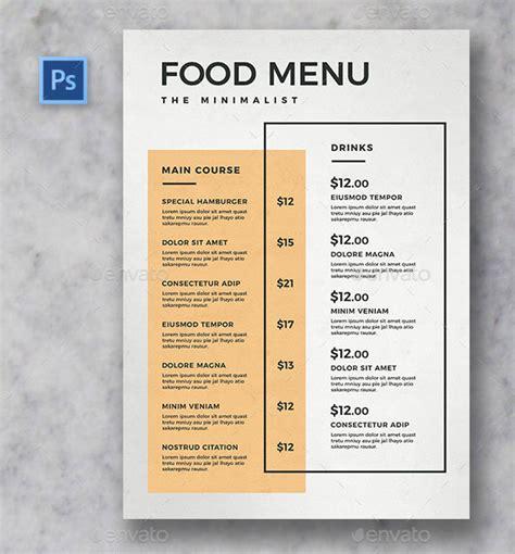 Minimal Menu Template 25 Beautiful Minimal Restaurant Menu Design Templates Pixel Curse
