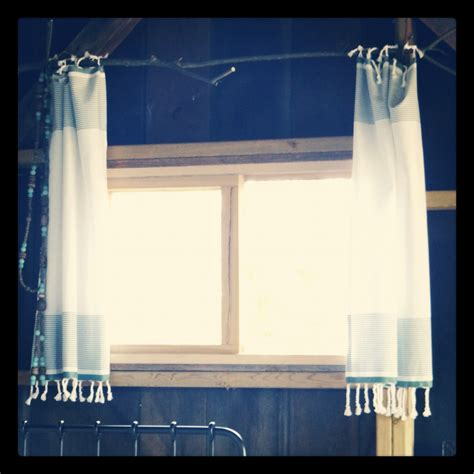 towel curtains diy tea towels from west elm as curtains easy to do