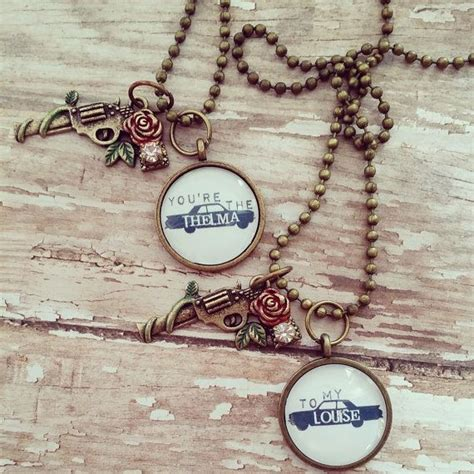 thelma and louise tattoos thelma and louise best friend necklace by