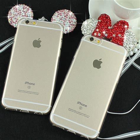 Iphone 6 6s 3d Mickey Minnie Casing Armor Be Murah aliexpress buy 3d minnie mickey mouse for iphone 6 6s 6 plus 6s plus