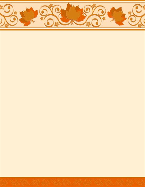 thanksgiving stationery templates autumn scrolls