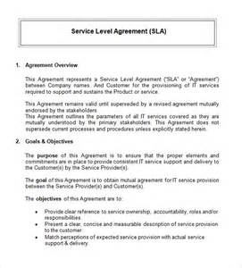 service level agreement template free blank pdf service level agreement template service level agreement template word excel pdf