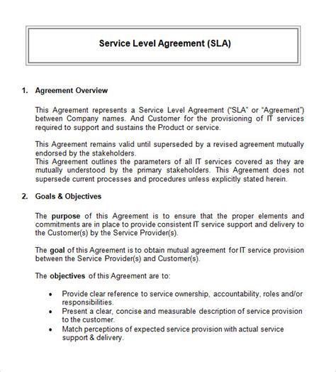 technical service agreement template customer service agreement template blank pdf service