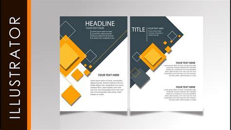 illustrator tutorial brochure design youtube tutorial easy brochure design tutorial simple yellow using