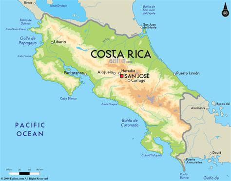 road map of costa rica and costa rica road maps