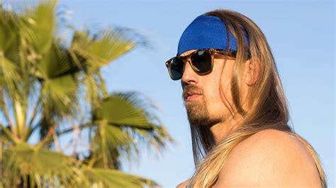 mens long hair headbands how to wear a headband with long hair for men youtube