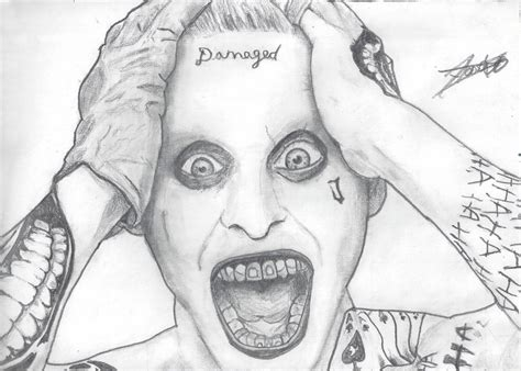 imagenes a lapiz del joker the leto s joker drawing by demoskomicron on deviantart
