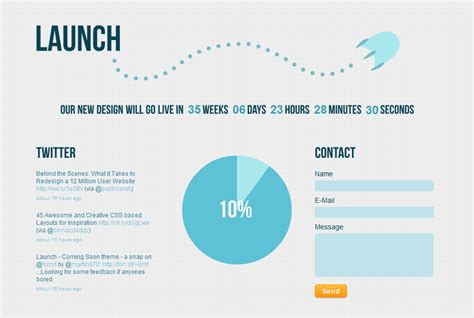 Launch Coming Soon Under Construction By Rocketshipthemes Themeforest Course Launch Template