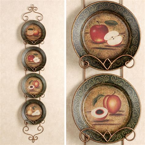 decorative plates for wall display bountiful fruit decorative plates set