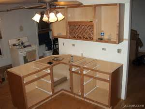 peninsula kitchen cabinets finally the peninsula cabinet is installed photograph