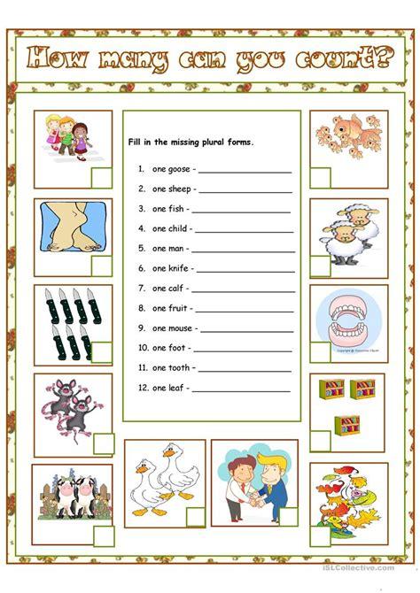 printable games for plurals irregular plurals worksheet free esl printable