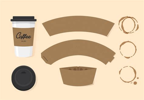 coffee sleeve template vector coffee sleeve free vector stock