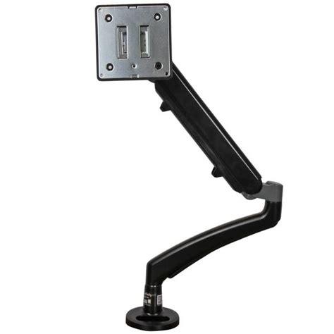 articulating monitor desk mount articulating monitor arm grommet or desk mountable