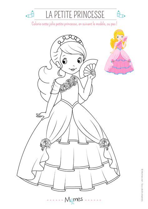 Modele De Dessin De Princesse coloriage de princesse avec mod 232 le momes net