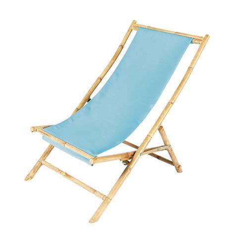 chaise bambou chaise longue chilienne pliante en bambou l 94 cm