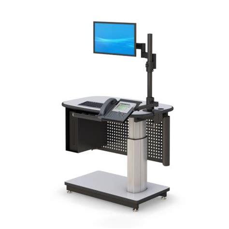 Pneumatic Height Adjustable Standing Desk
