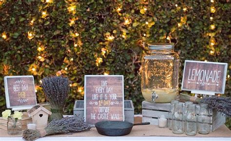 rustic themed events sweetly feature 21st garden birthday party