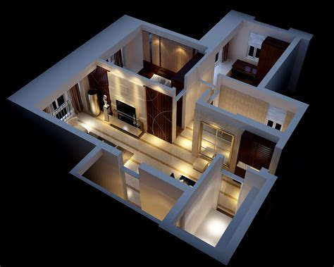 model house interior modern house interior fully furnished 3d model max