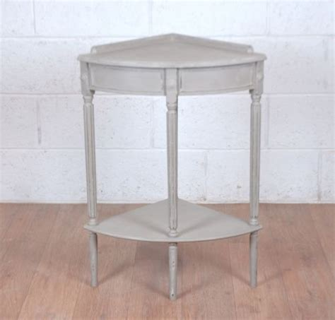 Corner Foyer Table Shabby Chic Corner Side Table Grey Country Style Ebay Hallway Ideas