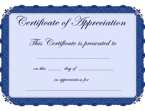 employee appreciation certificate template free printable certificates certificate of appreciation