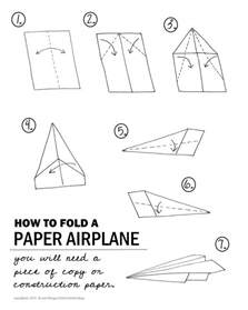 Paper Plane Fold - stem paper airplane challenge activities