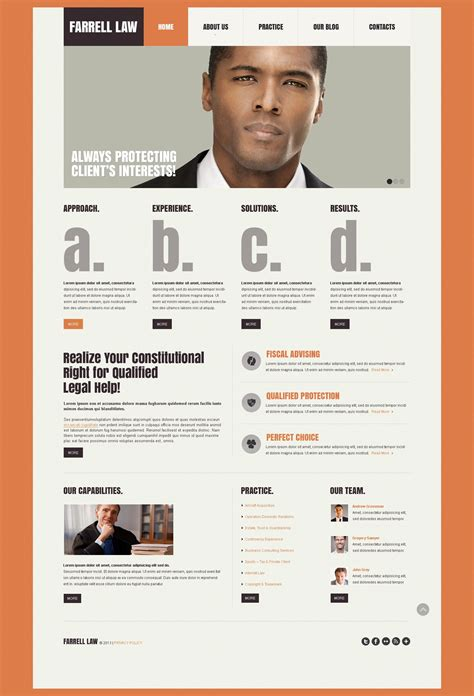 Law Firm Responsive Website Template 44313 Firm Responsive Website Template