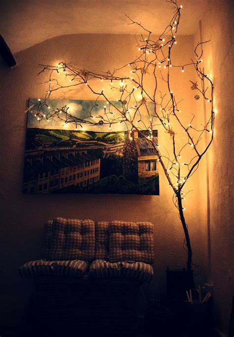 i like the idea of an indoor fake tree with white lights