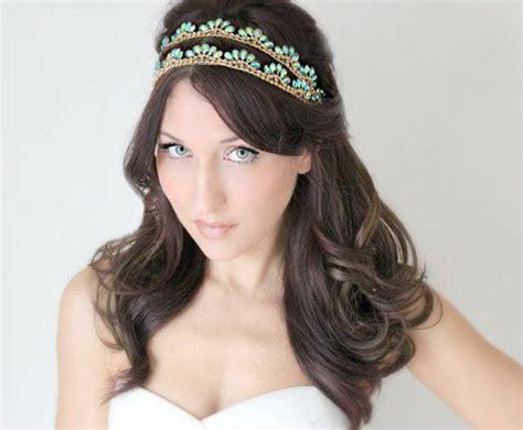 hair styles with rhinestones photo 3 of 5 sale bridal headband art deco style blue