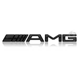 mercedes amg emblem slogan logo badge motor black tuning
