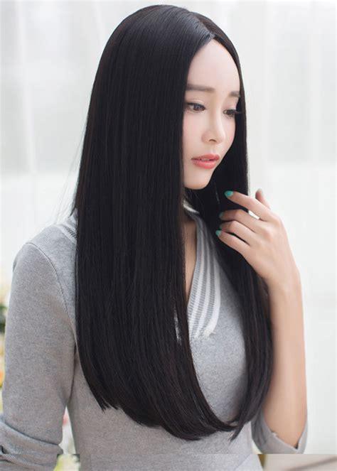long same length hair 9130l non shiny premium long straight center parting same