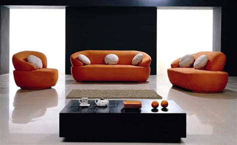 sofas contemporary fabric orange sofa design for