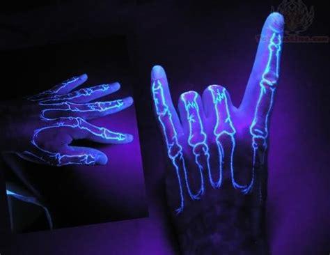 finger bones uv tattoo