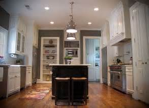 Light Gray Kitchen Walls Gray Kitchen Walls White Cabinets Light Fixtures Above Island Warm Honey Wood Floors