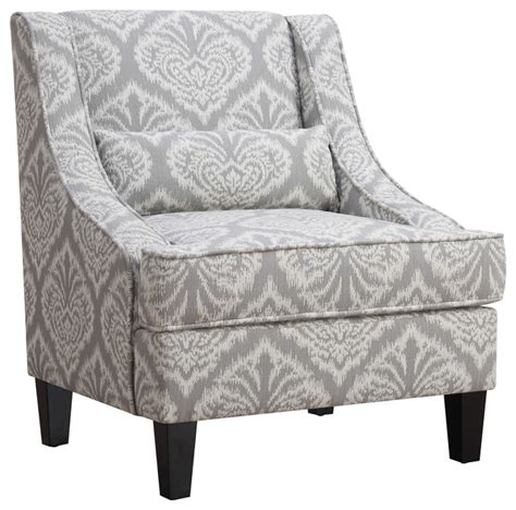 Gray And White Armchair Malia Accent Chair Gray And White Contemporary