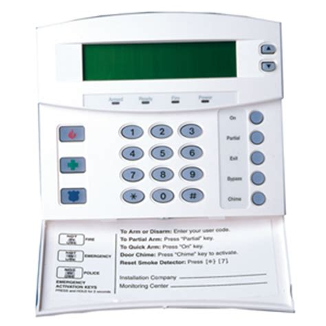 hills alarm keypad (lcd) nx148e | home security online
