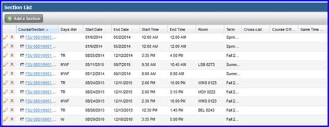 section list use ad astra to assign classrooms to meeting times myfsu