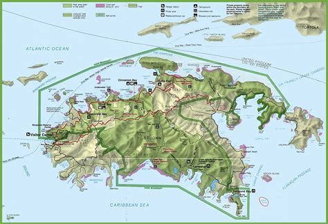 map of us islands st island tourist map