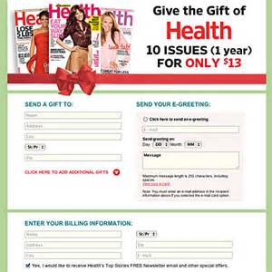 health magazine subscription 50 gifts under 50 health com
