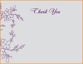 thank you note cards template thank you card templates the best free home design