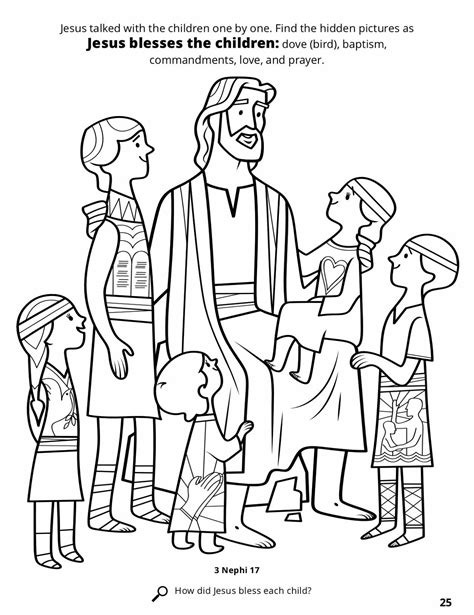 children s coloring pages of jesus jesus blesses the children