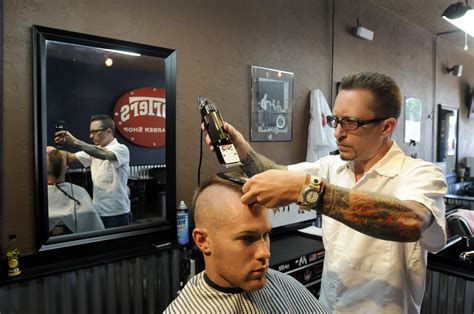 barber s barbers offer nostalgia with style the spokesman review