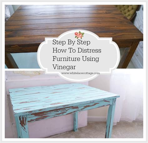 step by step upholstery distress furniture with vinegar tutorial white lace cottage