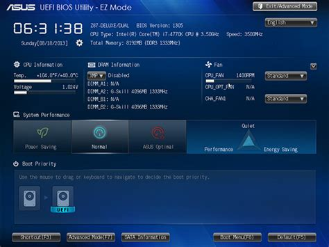 asus utility a look at the new asus uefi bios
